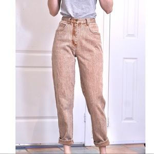 Brown vintage high waisted mom jeans